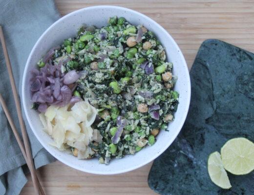 Proteinrikt stekt ris